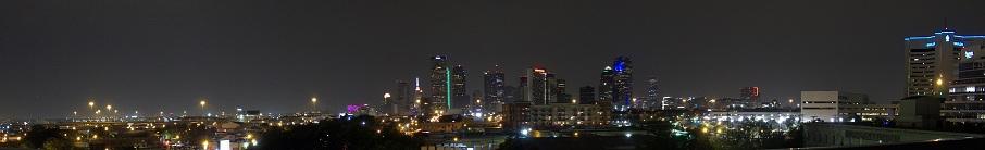 View of Downtown Dallas, Texas taken in Deep Ellum. 2010.