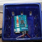 Arduino YUN + Motor Shield put inside a heat resistant container