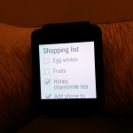 Google Keep on Android Wear