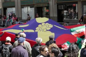 sassanid Flag in Persian Parade