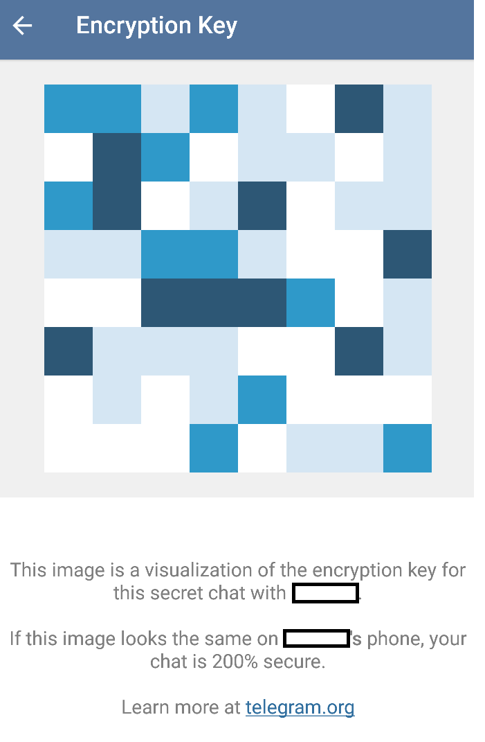 telegram visualization key