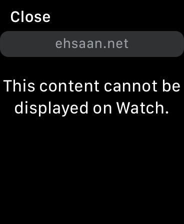 Apple Watch Webkit informing me PDFs cannot be shown.